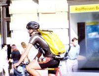 Biciklis futár - attis