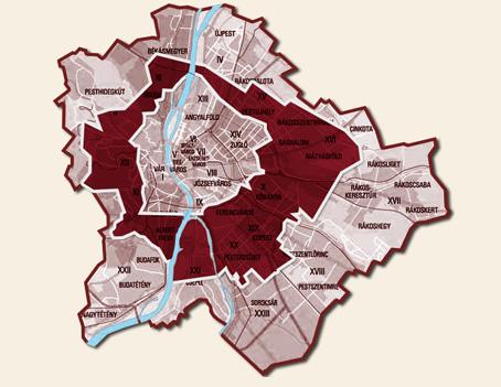 Biciklis futár - harmadik szállítási körzet térkép
