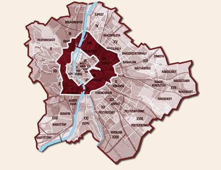 Biciklis futár - második szállítási körzet térkép