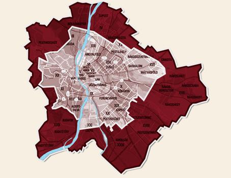 Biciklis futár - negyedik szállítási körzet térkép